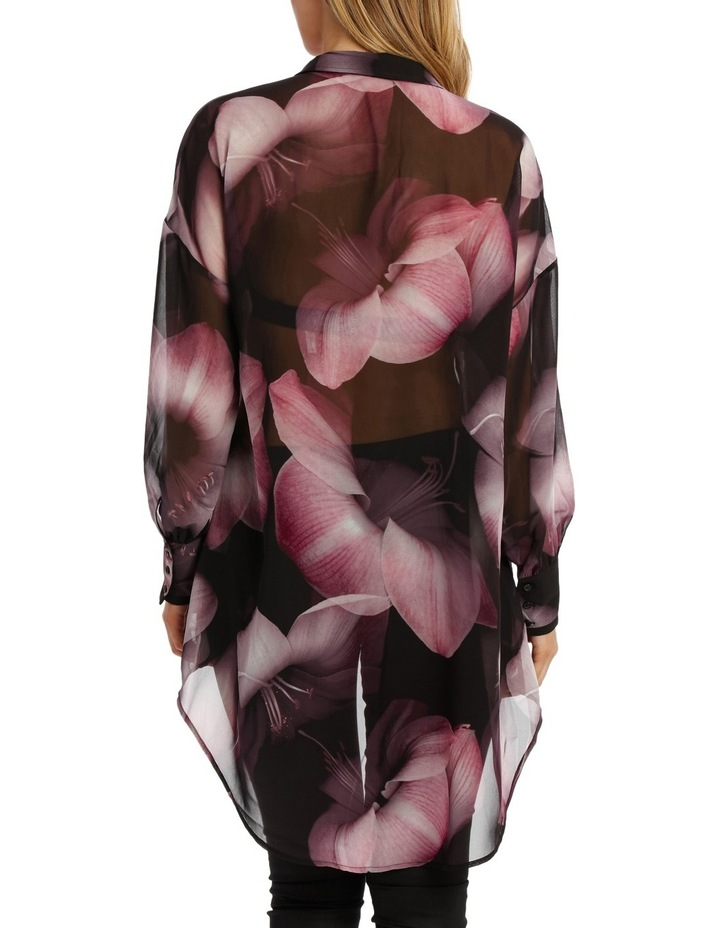 Shadow Floral Oversize Long Line Shirt image 3