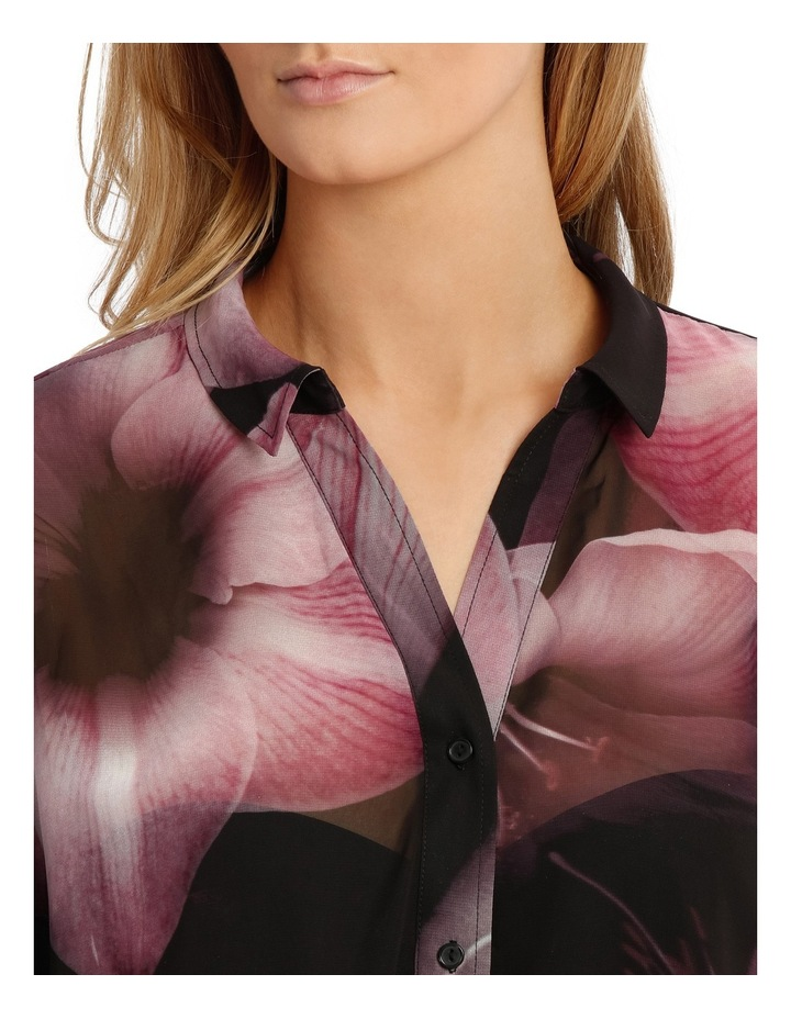 Shadow Floral Oversize Long Line Shirt image 4