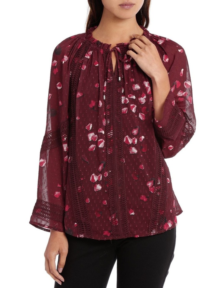 Raspberry Diamond Petal Peasant Blouse image 1