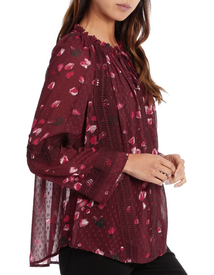 Raspberry Diamond Petal Peasant Blouse image 2