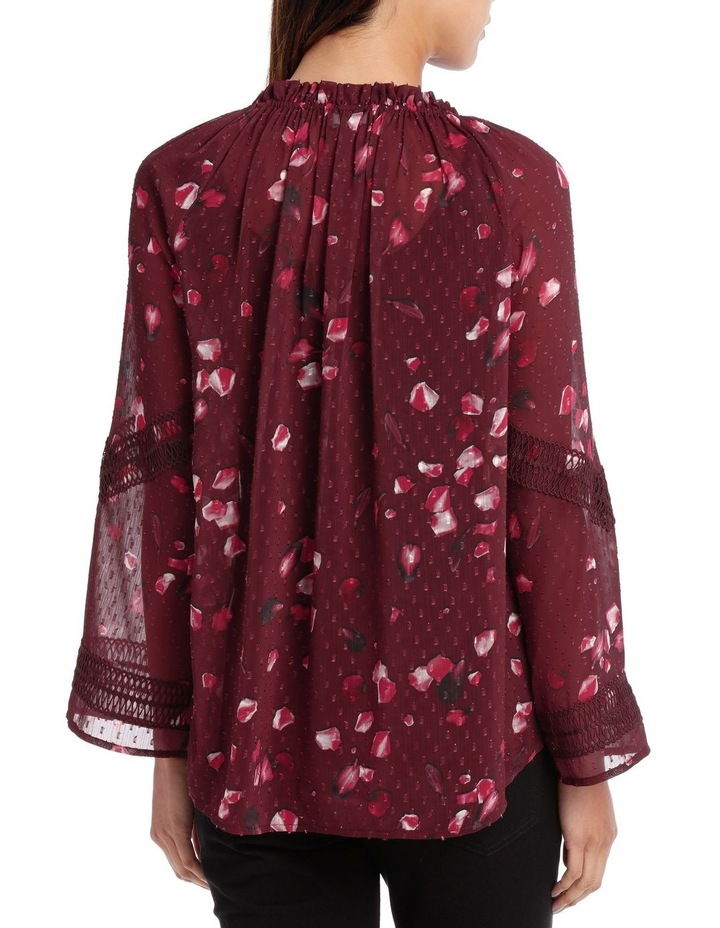 Raspberry Diamond Petal Peasant Blouse image 3