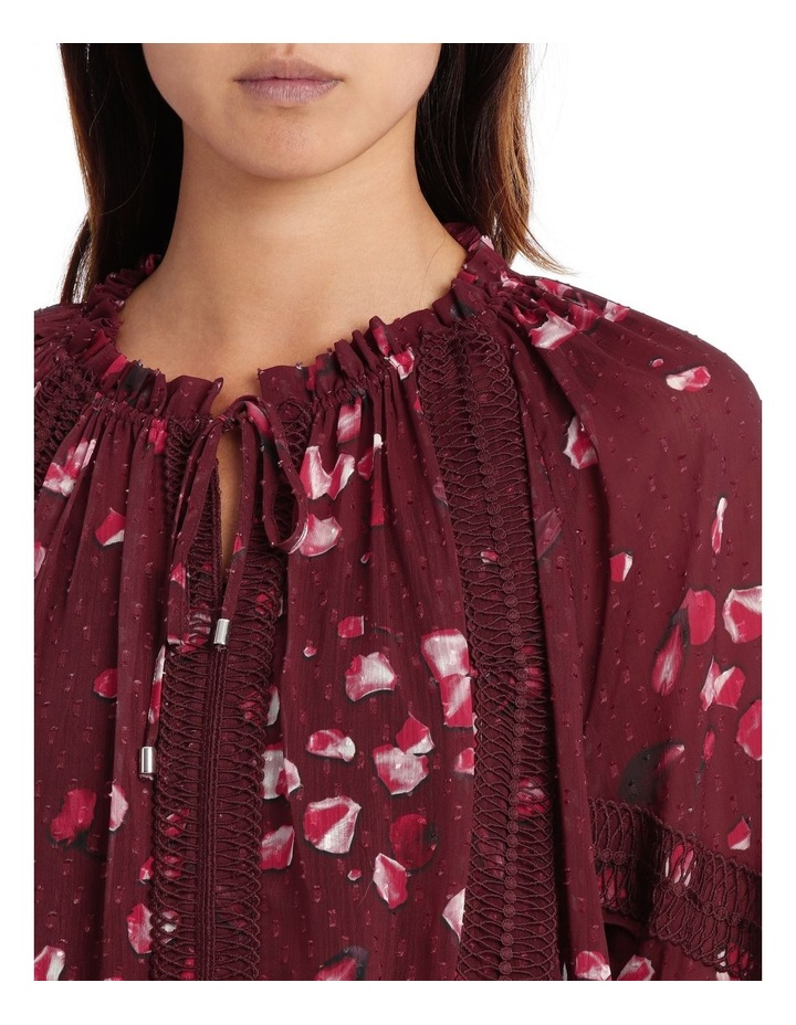 Raspberry Diamond Petal Peasant Blouse image 4