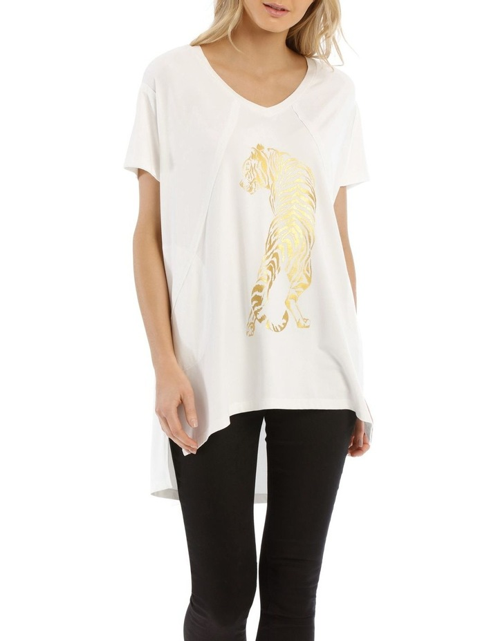 V-Neck Animal T Shirt image 1