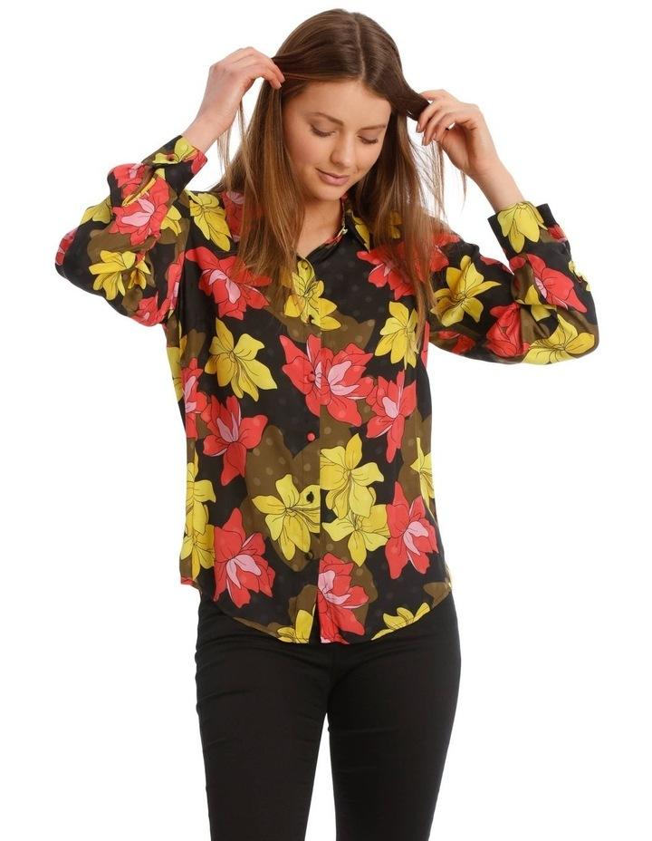 Golden Floral Print Shirt image 1