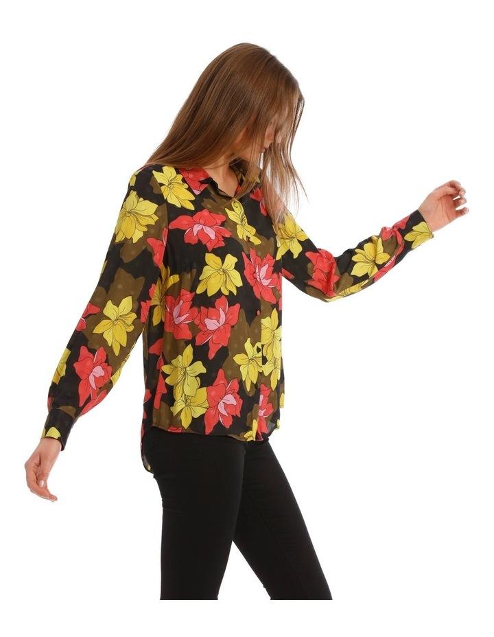 Golden Floral Print Shirt image 2
