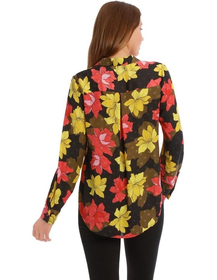 Golden Floral Print Shirt image 3