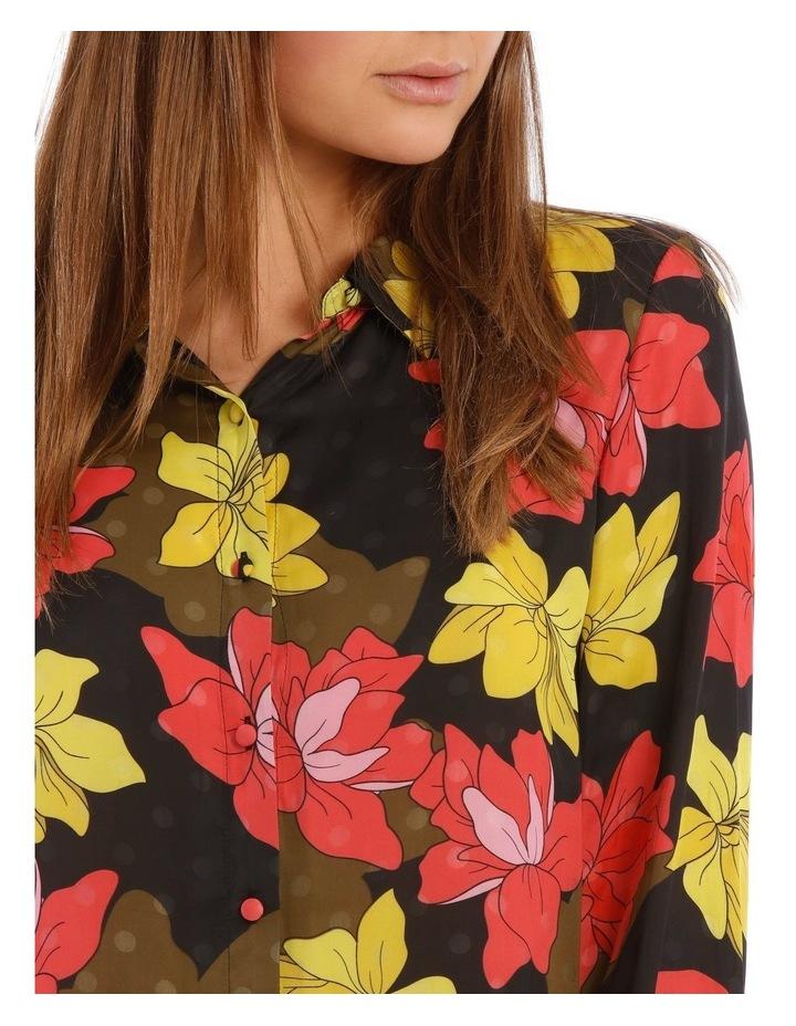 Golden Floral Print Shirt image 4