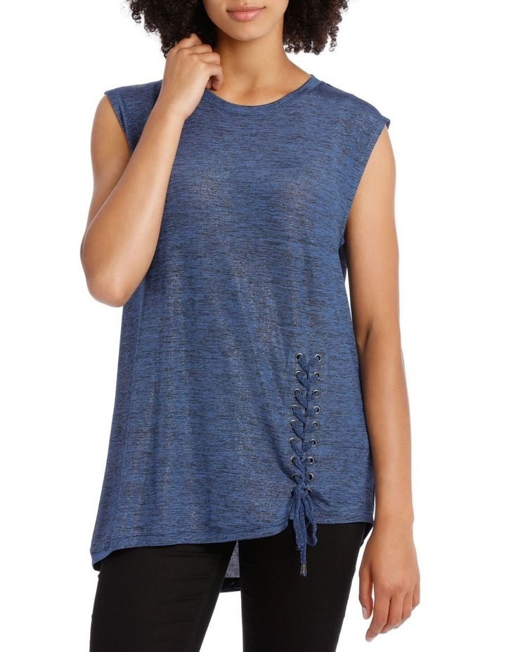 Lace Up Asymmetric Tee image 1