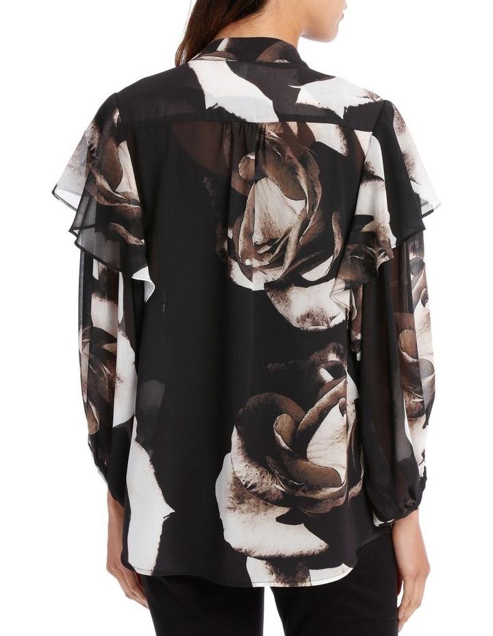 Infinity Rose Contrast Ruffle Slv Shirt image 3