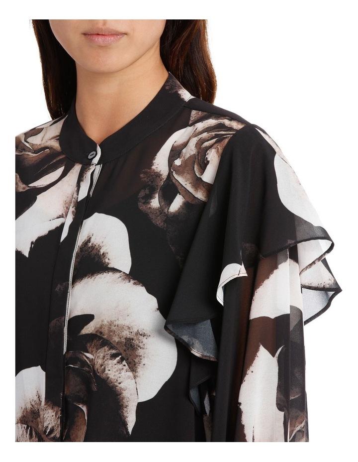 Infinity Rose Contrast Ruffle Slv Shirt image 4