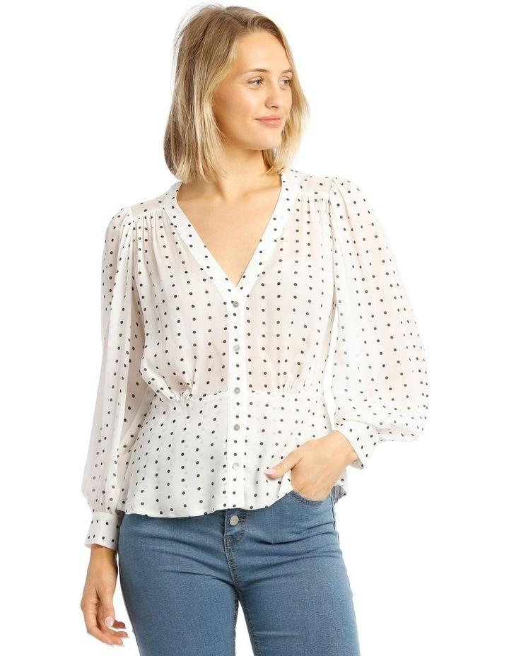 Deep Peplum Spot Shirt image 1
