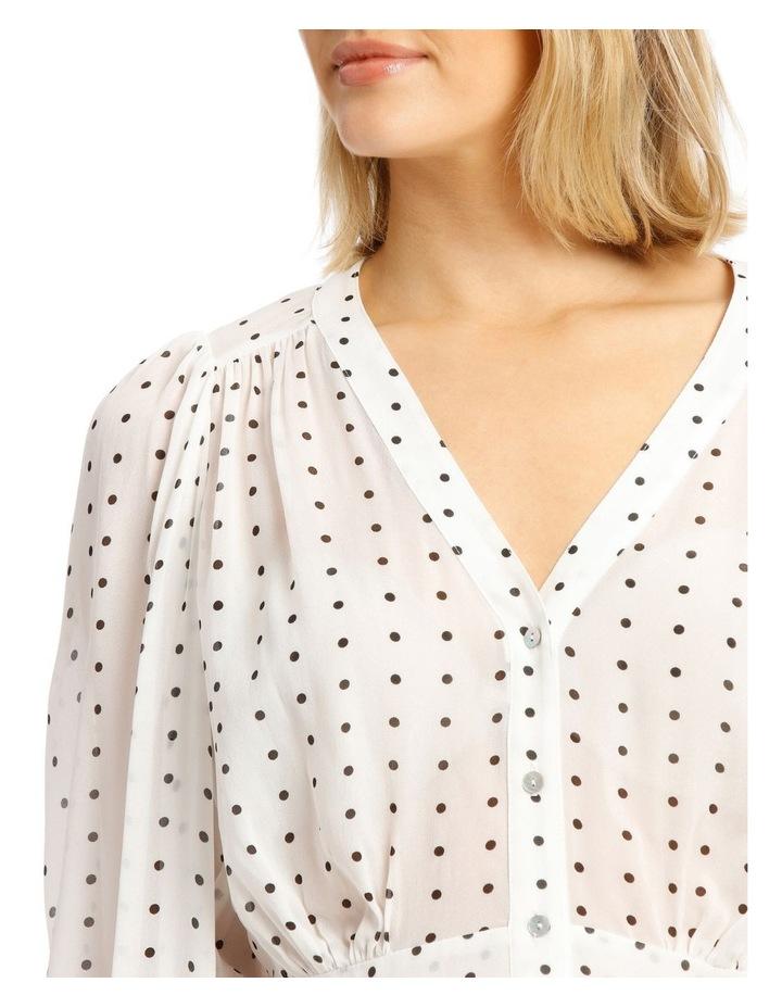 Deep Peplum Spot Shirt image 4
