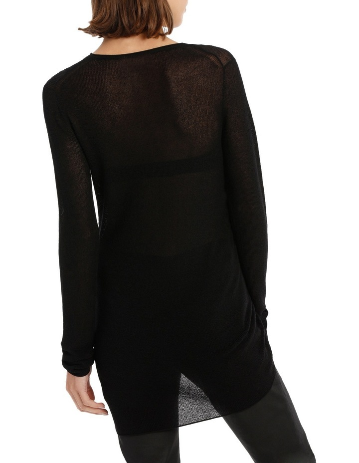 Longline Knit With Tie Detail image 3