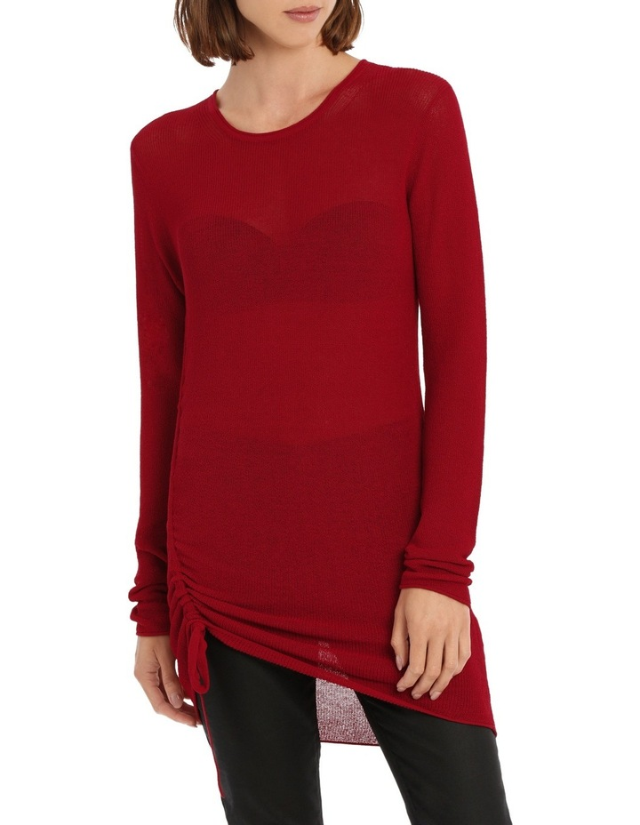 Longline Knit With Tie Detail image 1