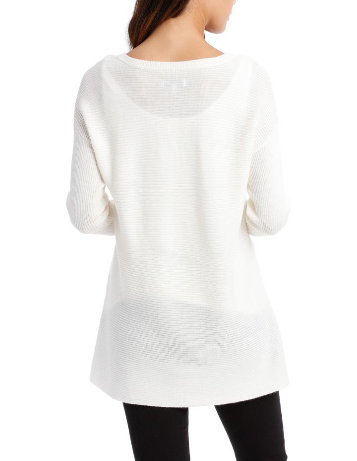 Snow Flake Assymetric Vnk Sweater image 3