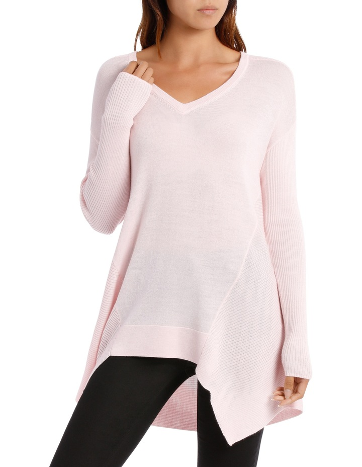 Soft Pink Assymetric Vnk Sweater image 1