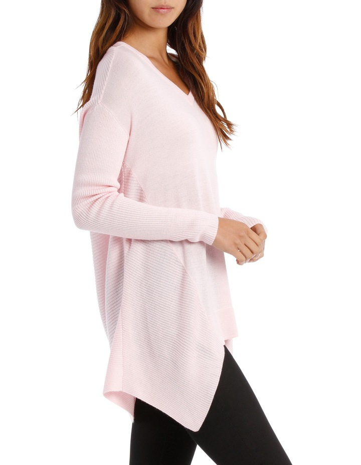 Soft Pink Assymetric Vnk Sweater image 2