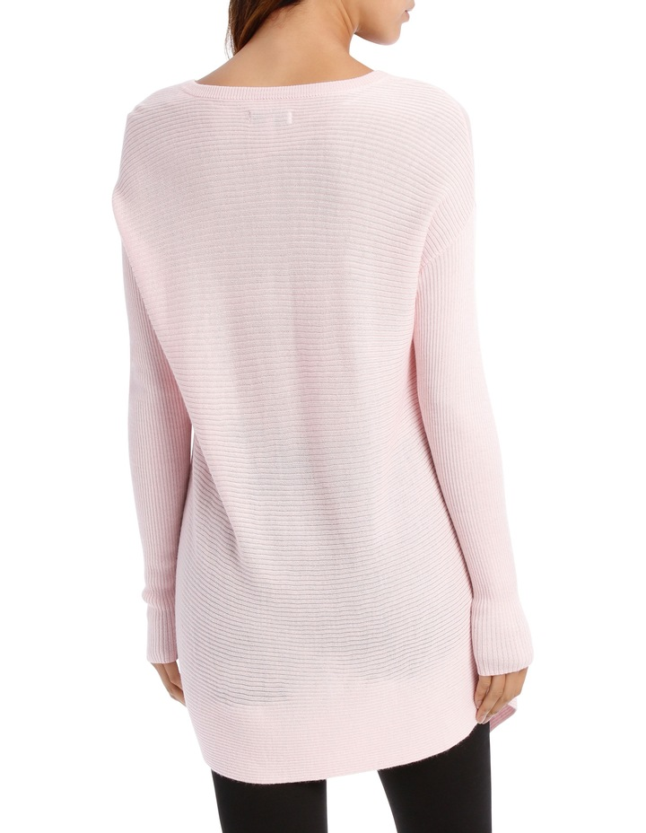 Soft Pink Assymetric Vnk Sweater image 3