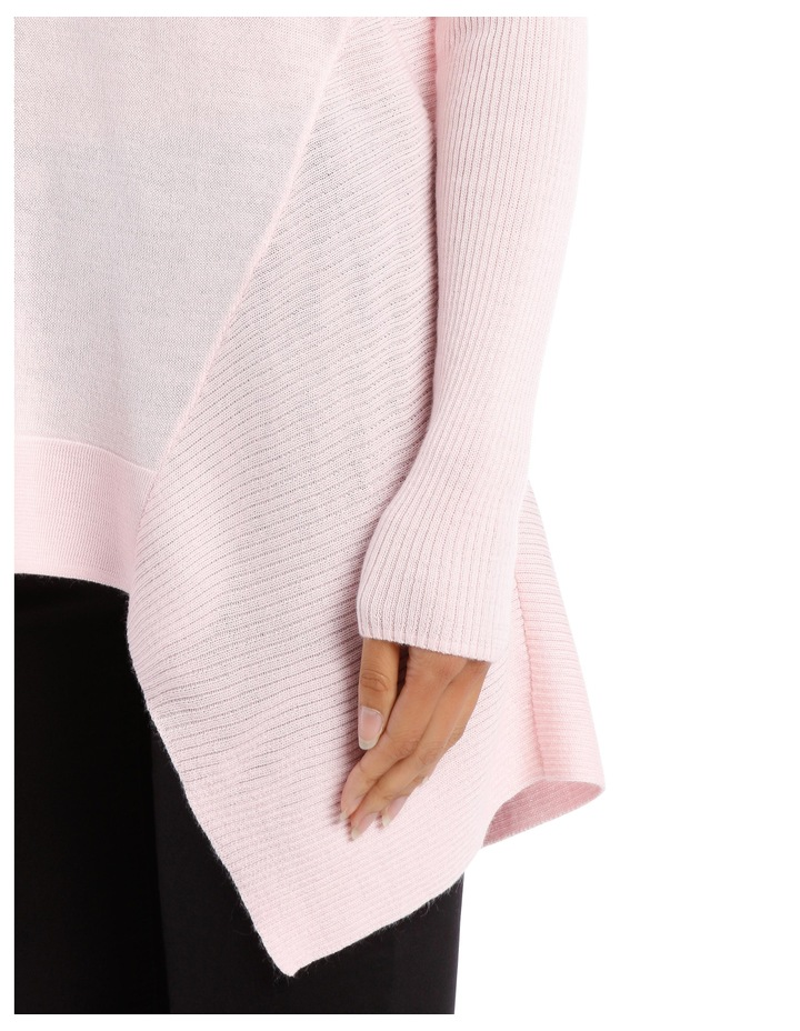 Soft Pink Assymetric Vnk Sweater image 4