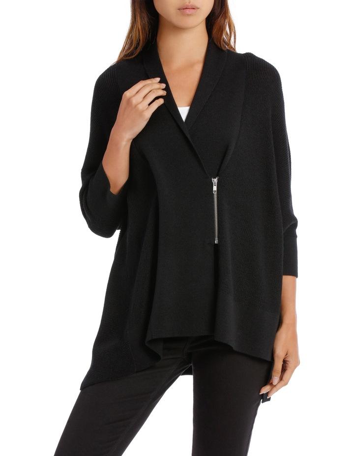 Black  Shawl Collar Cardigan image 1