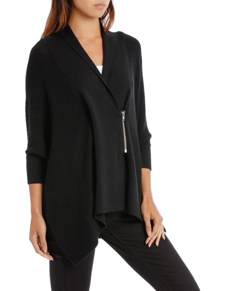 Black  Shawl Collar Cardigan image 2