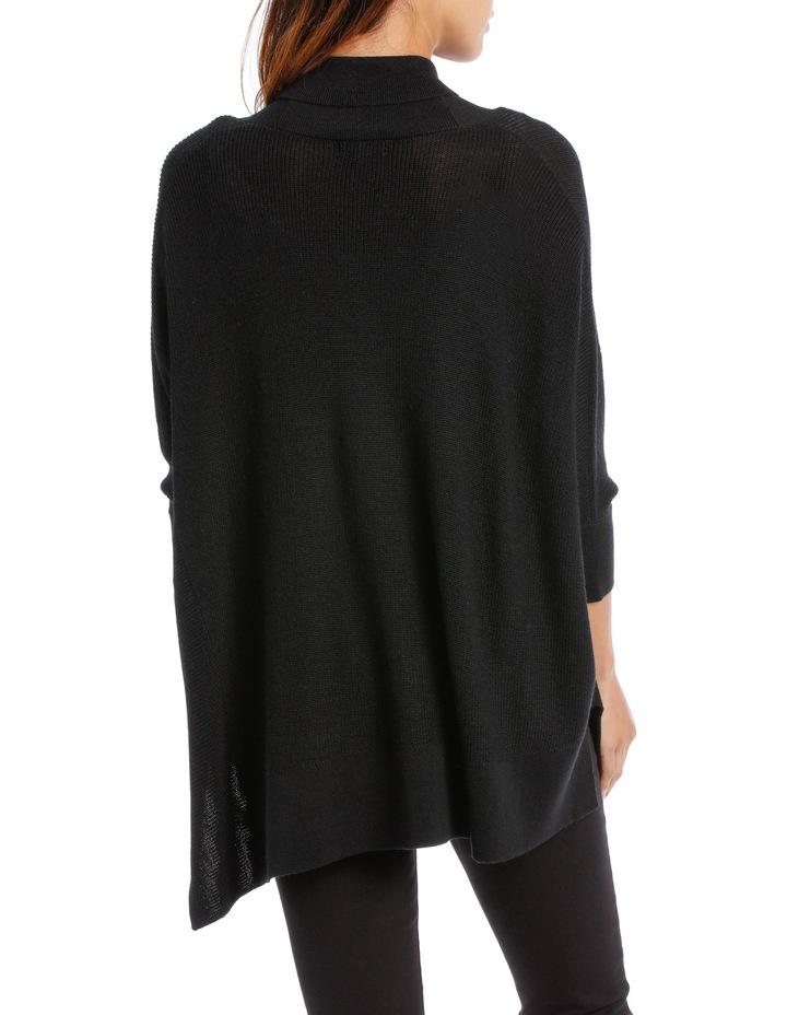 Black  Shawl Collar Cardigan image 3