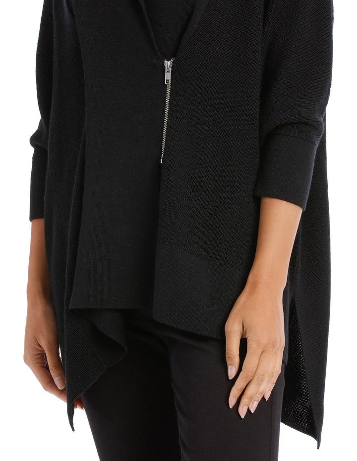 Black  Shawl Collar Cardigan image 4