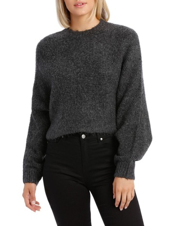 5899153c0 Wayne CooperCharcoal Batwing Cropped Sweater. Wayne Cooper Charcoal Batwing  Cropped Sweater