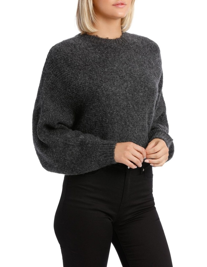 Charcoal Batwing Cropped Sweater image 2