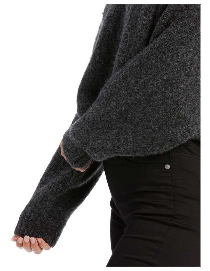 Charcoal Batwing Cropped Sweater image 4