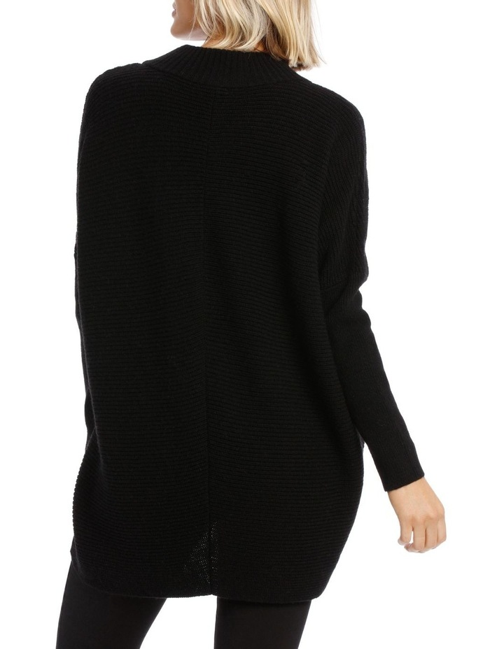 Black Chevron Knit image 3