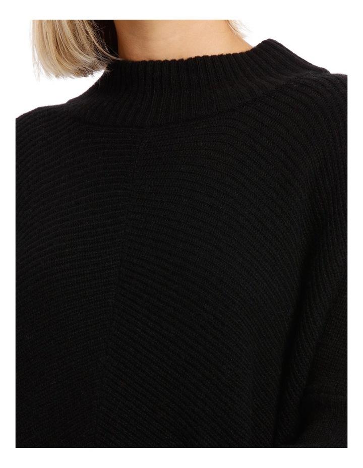 Black Chevron Knit image 4