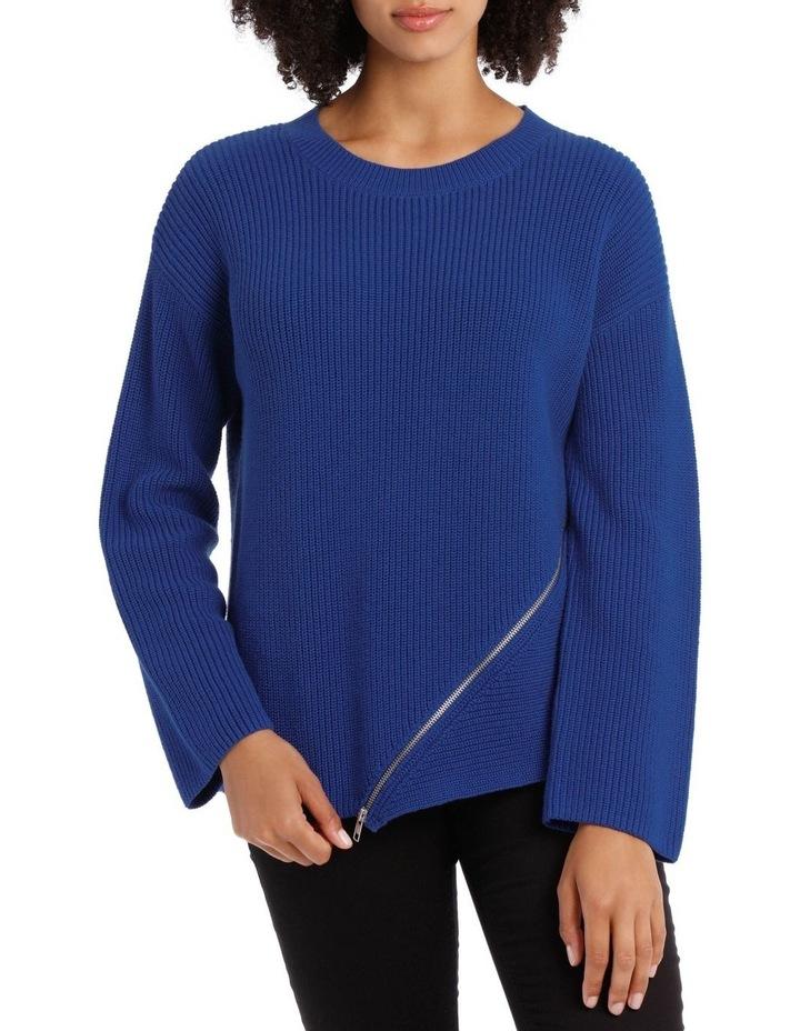 Marine Asymmetricaletric Zip Trim Sweater image 1