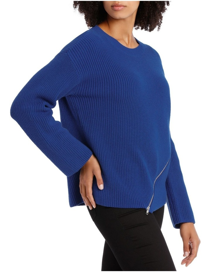Marine Asymmetricaletric Zip Trim Sweater image 2