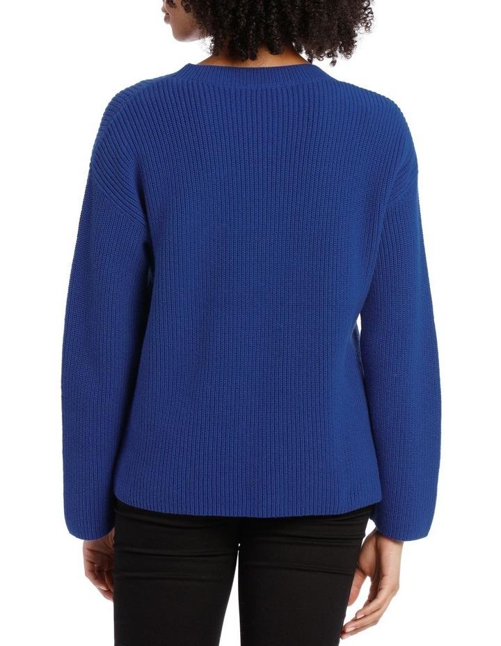 Marine Asymmetricaletric Zip Trim Sweater image 3