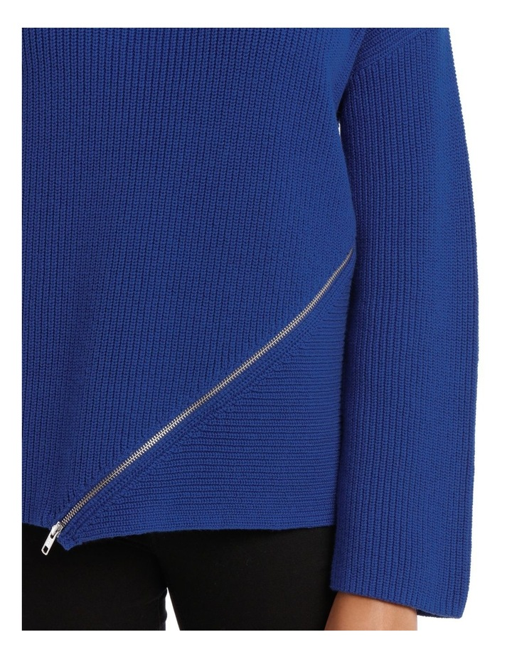 Marine Asymmetricaletric Zip Trim Sweater image 4