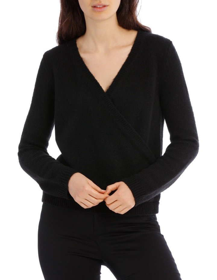 Black Cross Front Jumper image 1