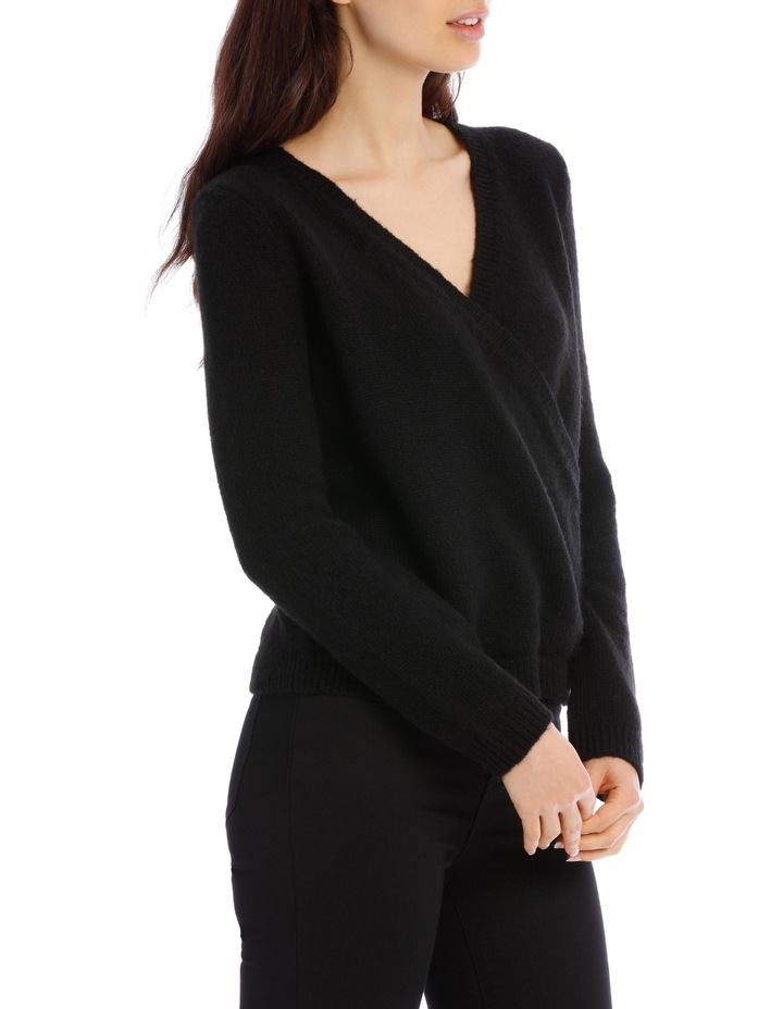 Black Cross Front Jumper image 2