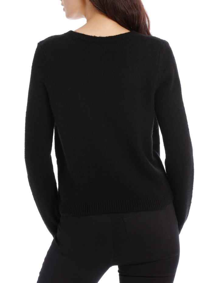 Black Cross Front Jumper image 3