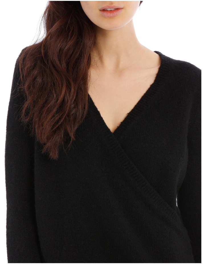 Black Cross Front Jumper image 4