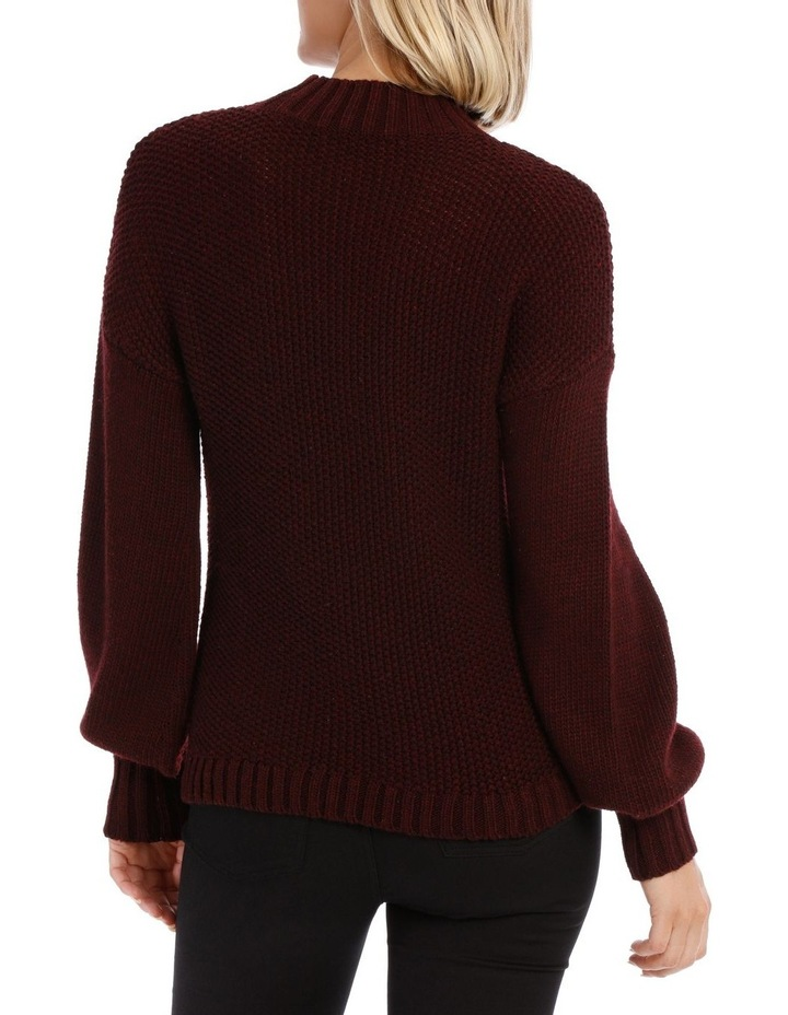 Merlot Balloon Sleeve Knit Jumper image 3