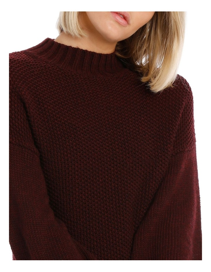 Merlot Balloon Sleeve Knit Jumper image 4