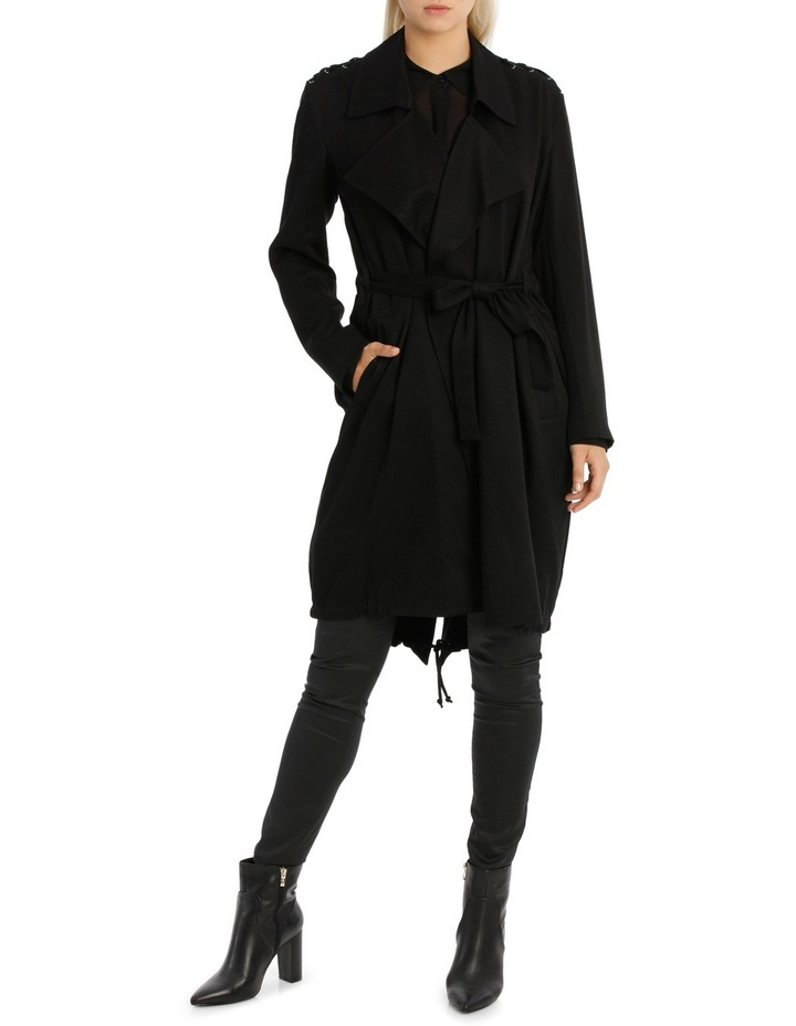 Assymetric Hem Trench Coat image 1