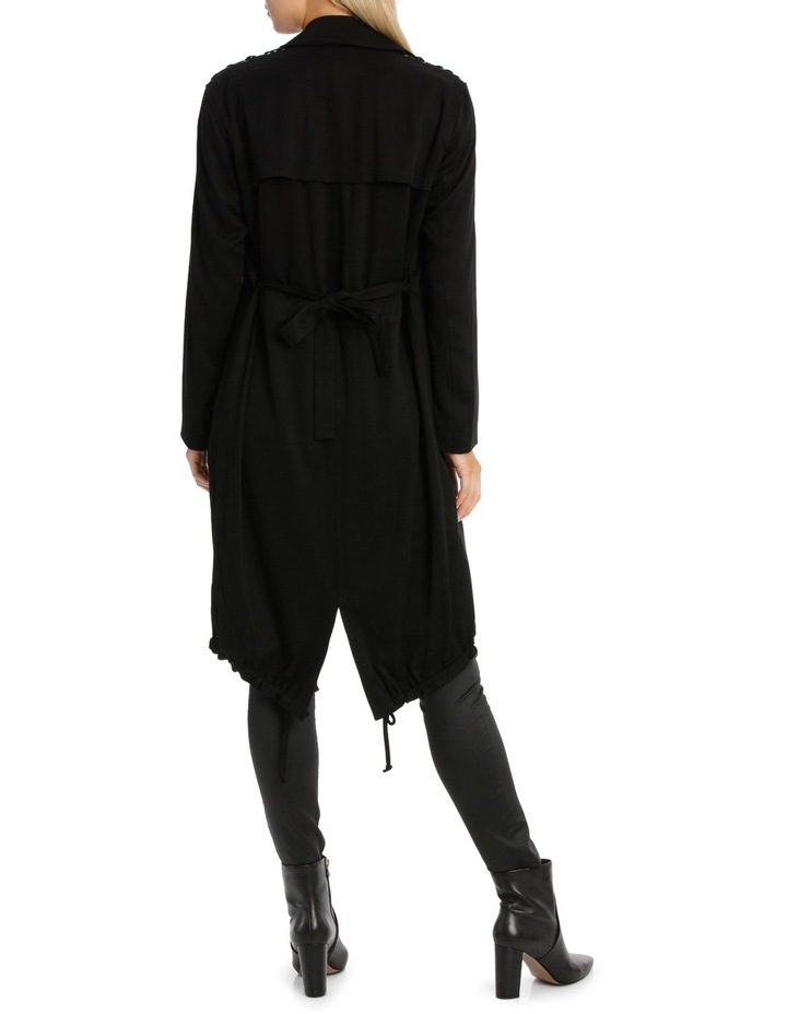 Assymetric Hem Trench Coat image 3