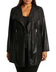 Wayne Cooper Woman - Black Stud Suede Jacket Woman