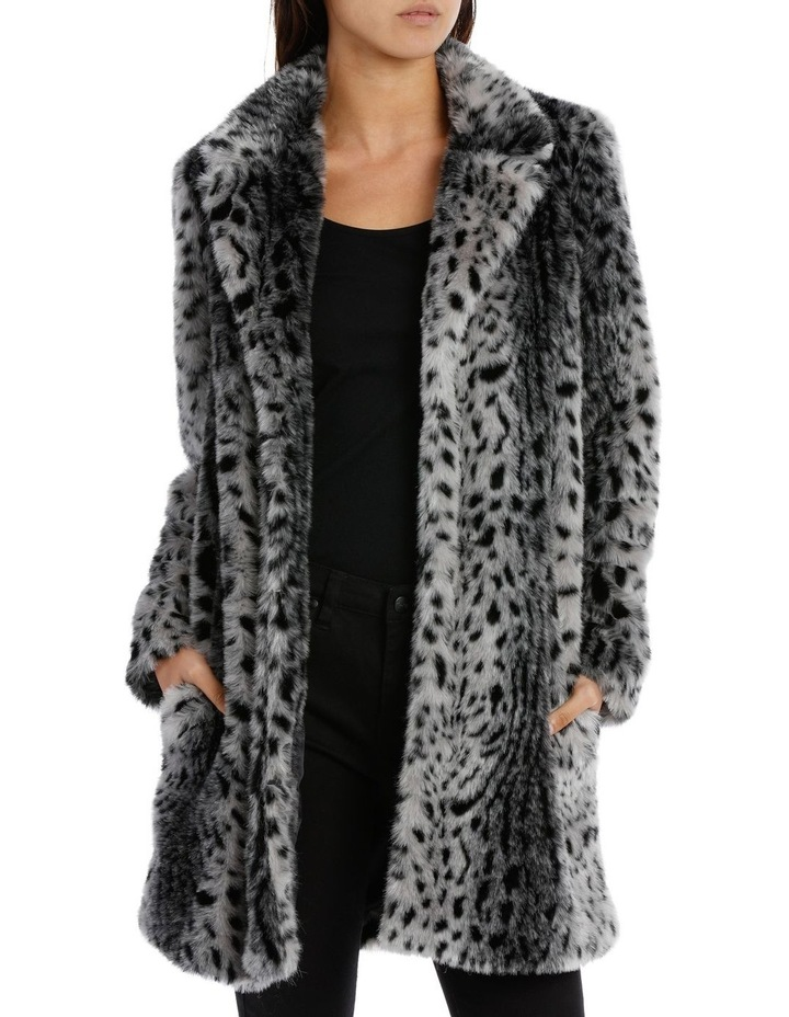 Silver Snow Lynx Animal Coat image 1