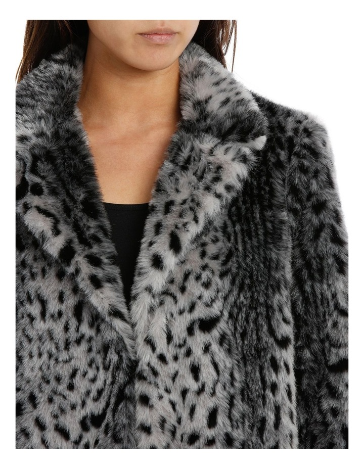 Silver Snow Lynx Animal Coat image 2