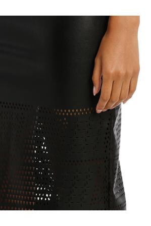 Wayne Cooper - Laser Cut Pu Pencil Skirt