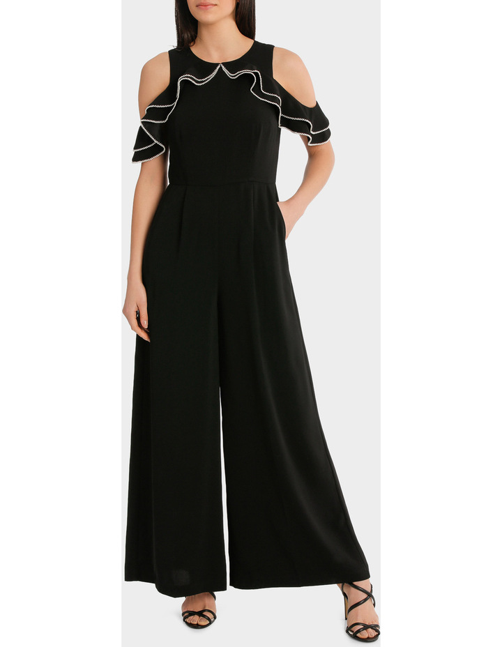 Cold Shoulder Pearl Trim Jumpsuit image 1