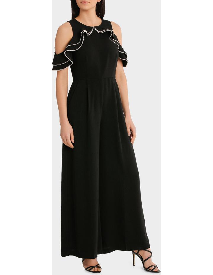 Cold Shoulder Pearl Trim Jumpsuit image 2